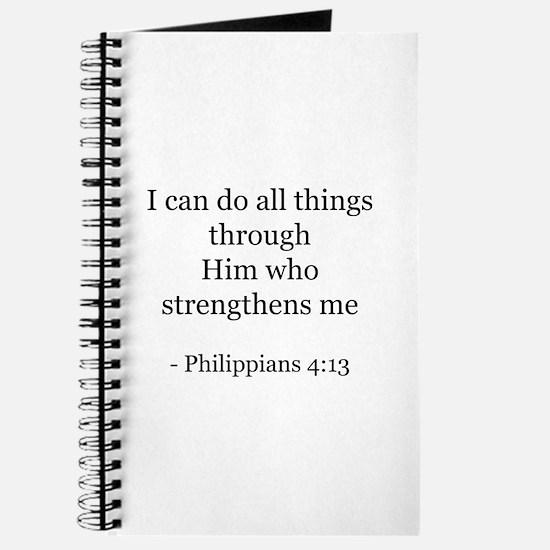 Phillipians 4:13 Journal