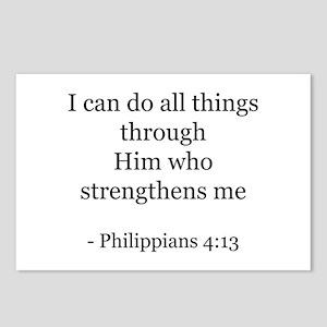 Phillipians 4:13 Postcards (Package of 8)