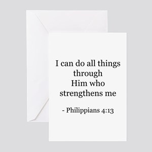 Phillipians 4:13 Greeting Cards (Pk of 10)
