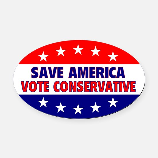 Save America Oval Car Magnet