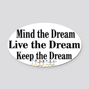 Live the Dream Oval Car Magnet