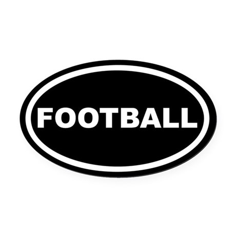 Football Euro Oval Car Magnet