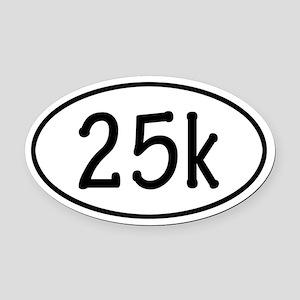 25k Oval Car Magnet