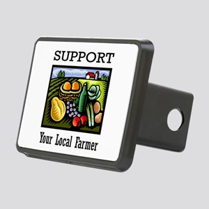 Support Your Local Farmer Rectangular Hitch Cover