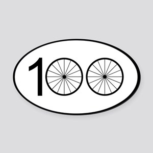 Century Ride Oval Car Magnet