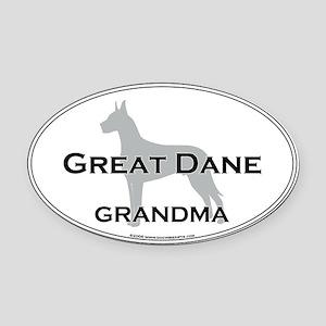 Great Dane GRANDMA Oval Car Magnet
