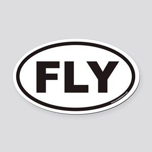 FLY Euro Oval Car Magnet