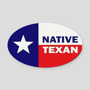 Native Texan Oval Car Magnet