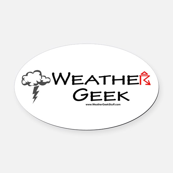 Weather Geek Oval Car Magnet