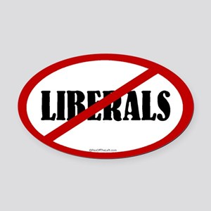 No Liberals Oval Car Magnet