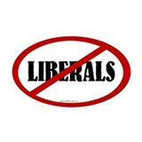 Anti liberal Oval Car Magnets