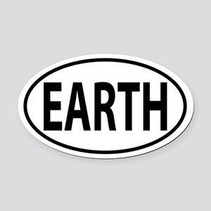 Earth Oval Car Magnet