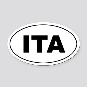 Italy (ITA) Oval Car Magnet