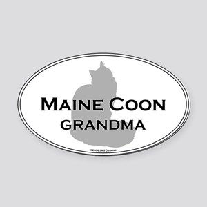 Maine Coon Grandma Oval Car Magnet