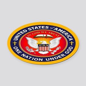 One Nation Under God Oval Car Magnet