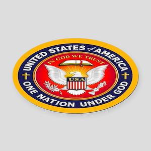One Nation Under God Oval Car Magnet