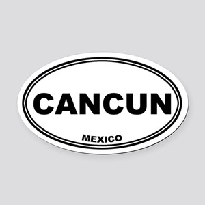 Cancun Oval Car Magnet