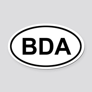 Bermuda BDA Oval Car Magnet