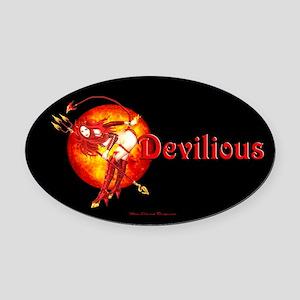 Devilious Oval Car Magnet
