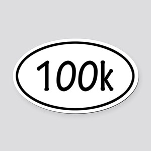 100k Oval Car Magnet