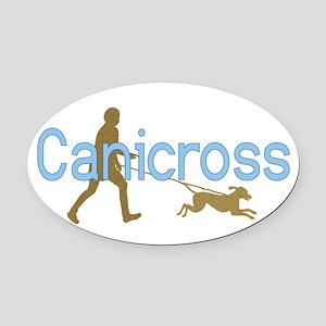 I Canicross Oval Car Magnet