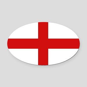 English Flag Oval Car Magnet