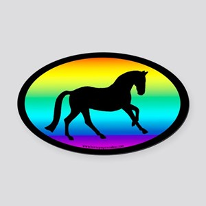 Canter Horse Oval (rainbow) Oval Car Magnet