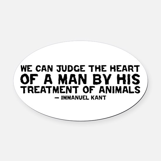 Heart of a Man - Kant Oval Car Magnet