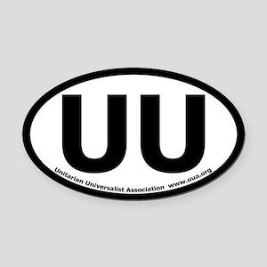 UU Bumper Oval Car Magnet with UUA text