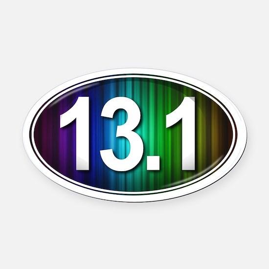 13.1 RAINBOW Marathon Oval Car Magnet