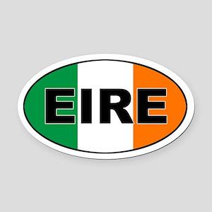 Irish (EIRE) Flag Oval Car Magnet