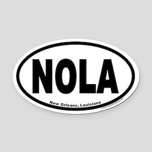 "New Orleans, Louisiana ""NOLA"" Oval Car Magnet"