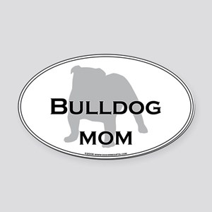 Bulldog MOM Oval Car Magnet