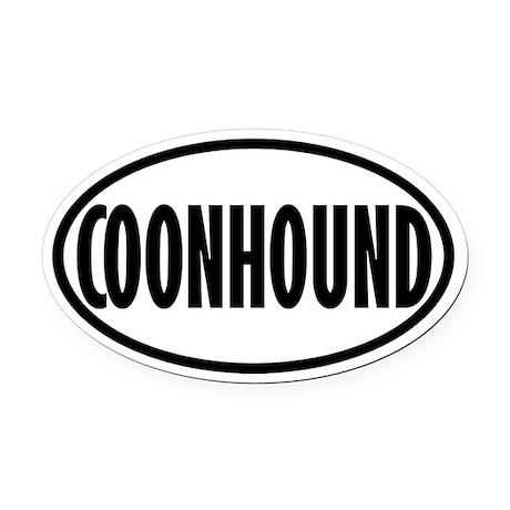 Coonhound Oval Car Magnet