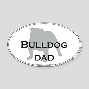 Bulldog DAD Oval Car Magnet