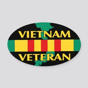 Vietnam Veteran Oval Car Magnet