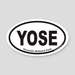 Yosemite National Park YOSE Euro Oval Car Magnet