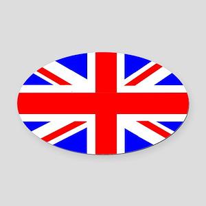 Union Jack U.K. Oval Car Magnet