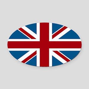 British Flag Oval Car Magnet