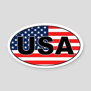 USA Oval Car Magnetriotic Oval Car Magnet