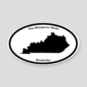 Kentucky Nickname Oval Car Magnet