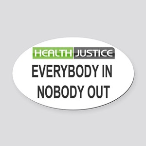 Health Justice Oval Car Magnet