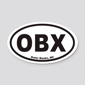 OBX Euro Oval Car Magnet