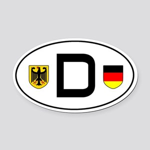 Germany car Oval Car Magnet
