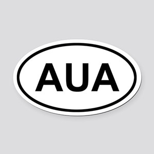 Aruba AUA Oval Car Magnet