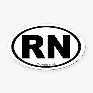 Registered Nurse Oval Car Magnet