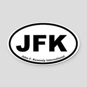 John F. Kennedy International Oval Car Magnet