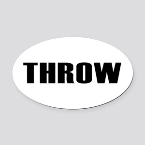 Throw Oval Car Magnet