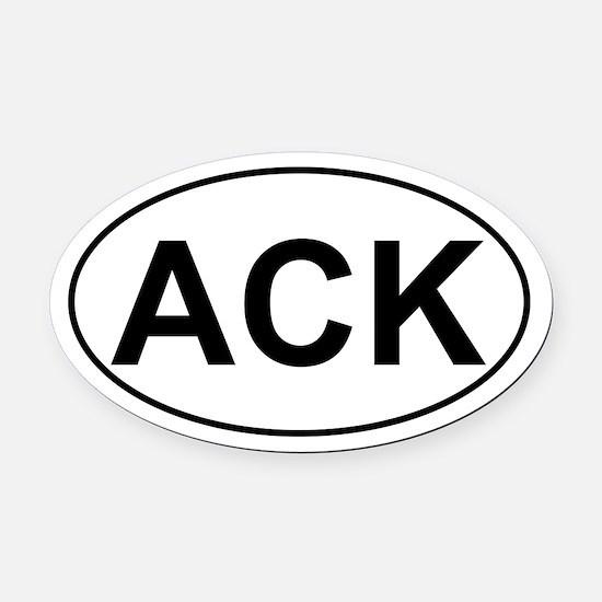 ACK Oval Car Magnet