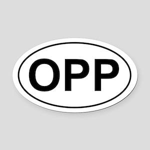 OPP Oval Car Magnet